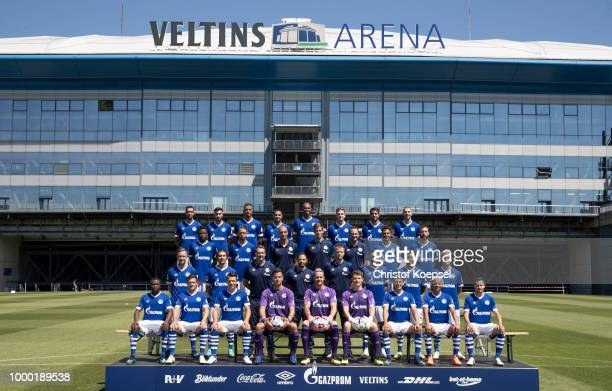 Upper row starts with Nabil Bentaleb Suat Serdar Franco Di Santo Omar Mascarell Naldo Bastian Oczipka Pablo Insua Matija Nastasic The second row...