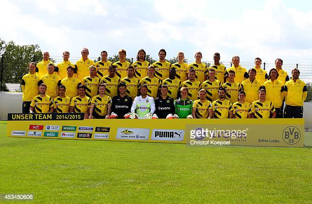 Upper row starts with physiotherapist Thomas Zetzmann physiotherapist Thorben Voeste physiotherapist kit manager Frank Graefen Kevin Grosskreutz...