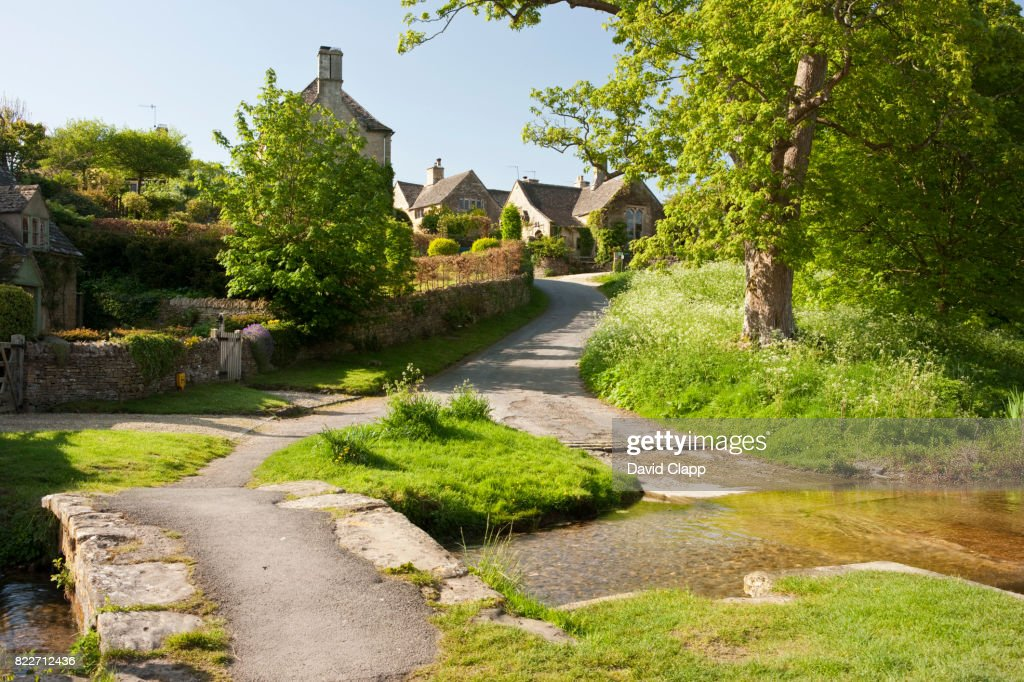 Upper Slaughter, Cotswolds, Gloucestershire : Stock Photo