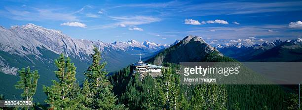 upper terminal of sulphur mountain gondola - sulphur mountain stock pictures, royalty-free photos & images