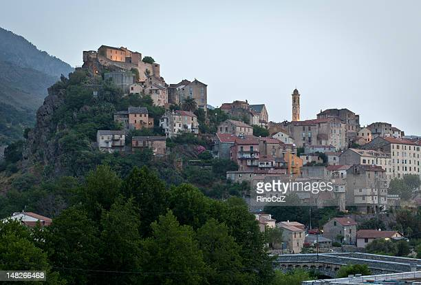 Upper Town Of Corte At Dawn, Corsica France