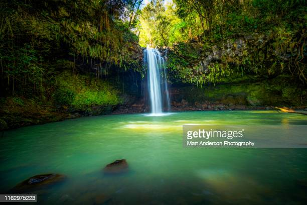 upper twin falls in haiku-pauwela maui #3 - water fall hawaii stock pictures, royalty-free photos & images