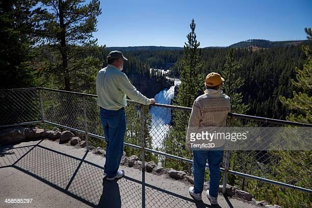upper yellowstone falls - terryfic3d bildbanksfoton och bilder