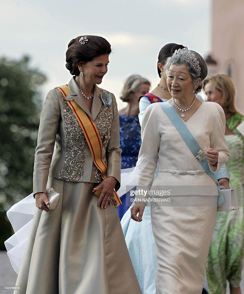 Japanese Empress Michiko and Queen Silvi... : News Photo