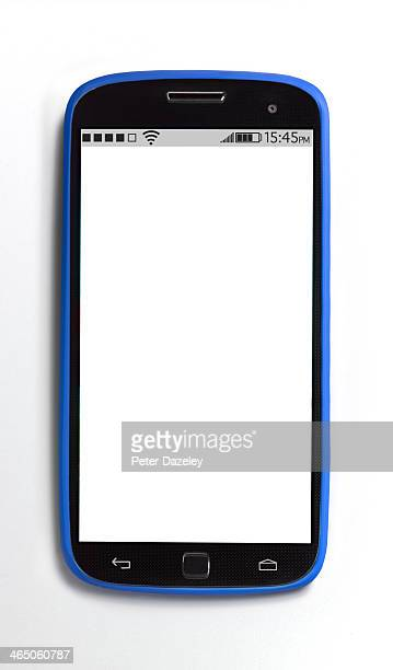 Upright mobile phone with copy space