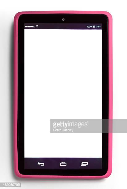 Upright tablet with copy space
