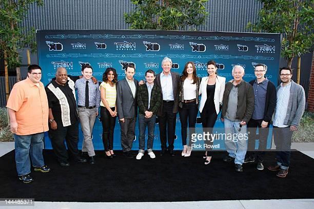 TRON UPRISING PRESS JUNKET TRON Uprising stars arrive at the TRON Uprising screening and reception at DisneyToon Studios in Glendale California...