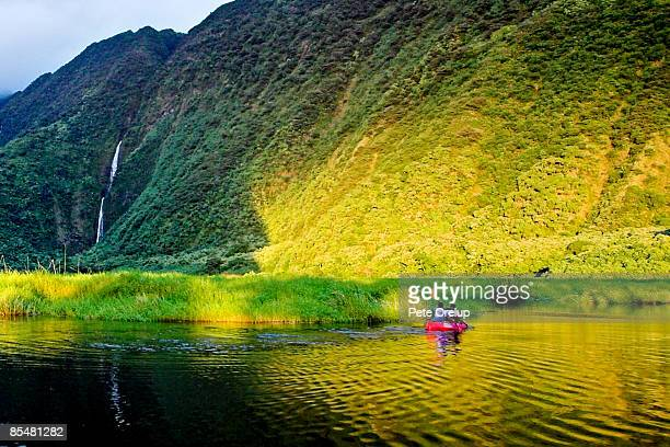 upriver - water fall hawaii stock pictures, royalty-free photos & images