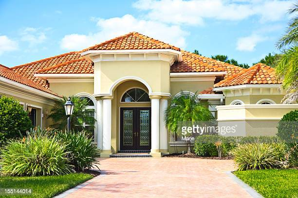 Upscale Home with Tile Roof