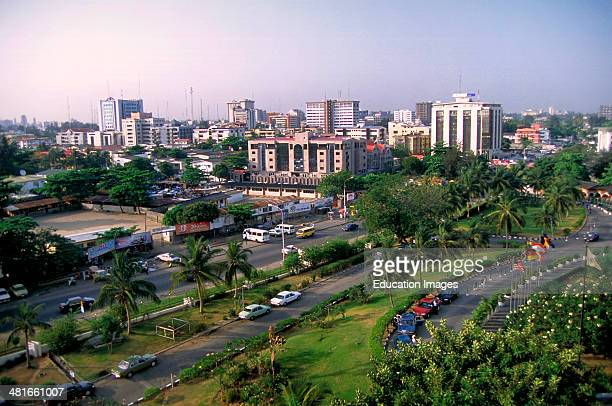 Upscale Victoria Island one of the districts in Lagos Nigeria's largest city with 12 million people West Africa
