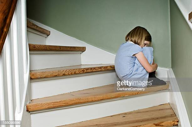 Upset Bullied Schoolgirl At Home