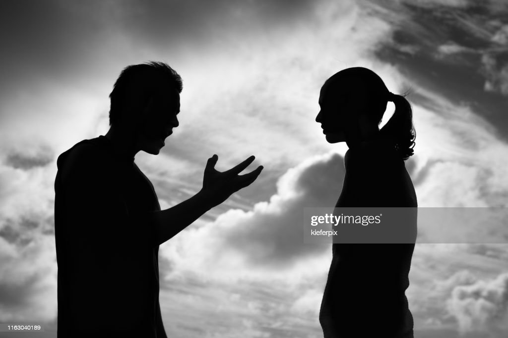 Upset couple arguing : Stock Photo