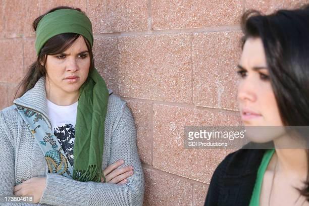 En colère fille amis peu amicale à l'autre