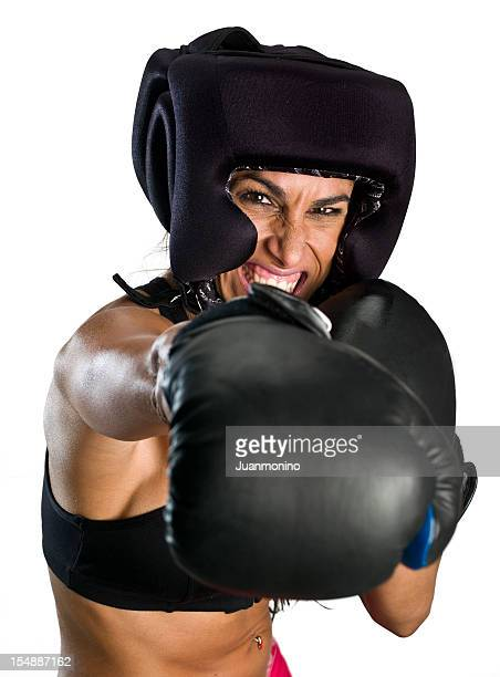 upset hispanic box fighter - mixed boxing stock photos and pictures