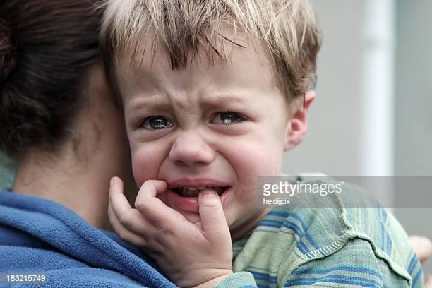 Verärgert kleine Jungen