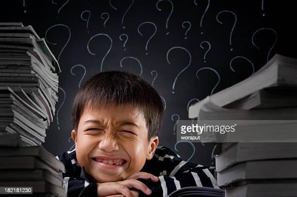 腹少年が宿題を尋ねる