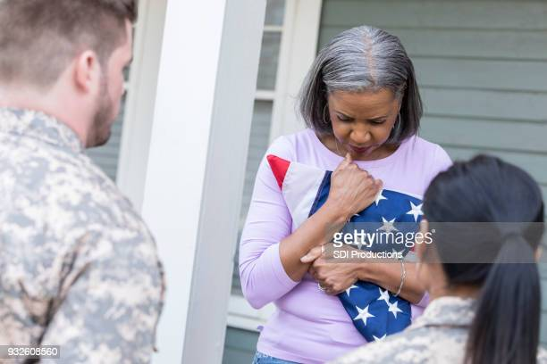 Upset mother mourns death of soldier son