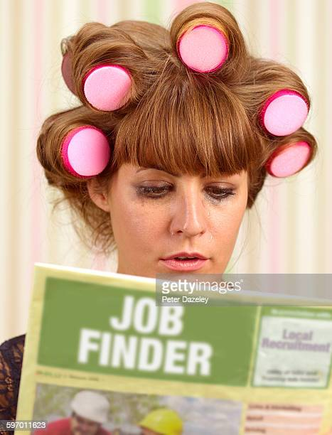 Upset woman looking for work