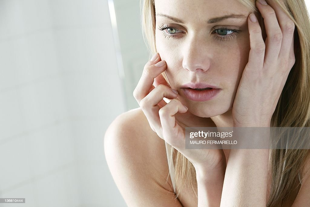 Upset young woman : Stock Photo
