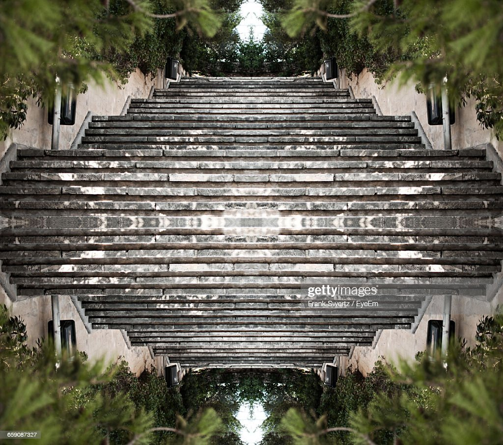Upside Down Image Of Empty Steps : Stock-Foto