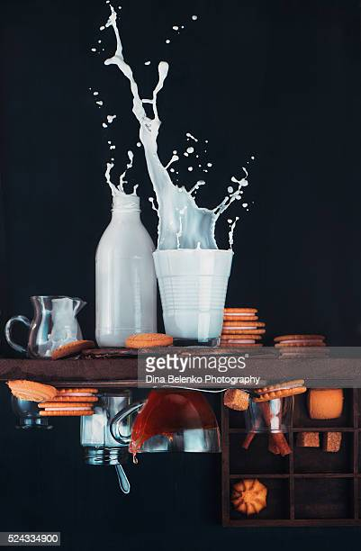 upside down milk - high section stock pictures, royalty-free photos & images