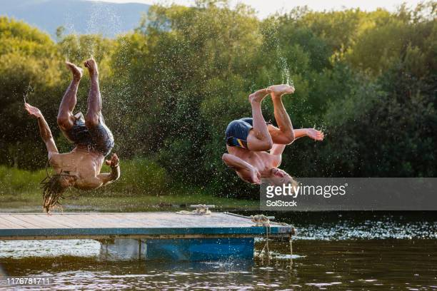 upside down - somersault stock pictures, royalty-free photos & images