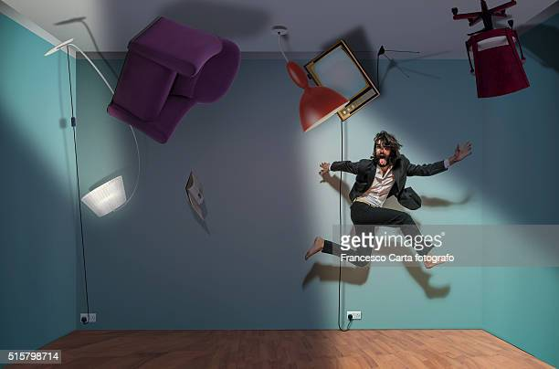 upside-down room - op z'n kop stockfoto's en -beelden