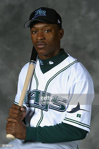 J Upton of the Tampa Bay Devil Rays poses for a portrait on February 23 2004 at the Devil Rays spring training complex in St Petersburg Florida