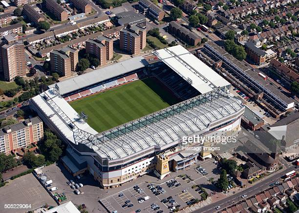 Upton Park football ground London 2009 Aerial view of the Boleyn Ground the home of West Ham United FC since 1904 Artist Historic England Staff...