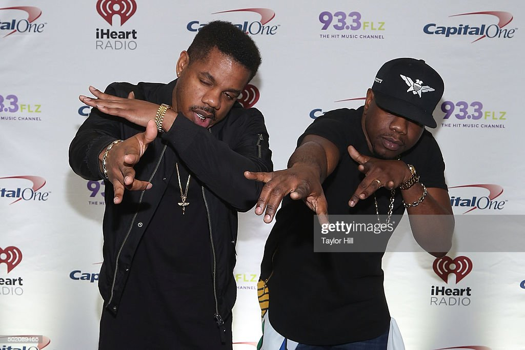 Uptown AP and A.I. of R. City attend 93.3 FLZ's 2015 Jingle Ball at Amalie Arena on December 19, 2015 in Tampa, Florida.