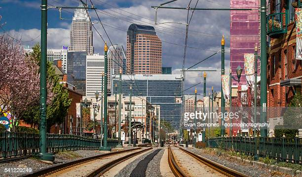 uptown charlotte, nc skyline - charlotte north carolina stock pictures, royalty-free photos & images
