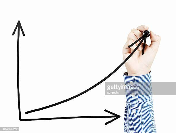 uptrend chart - pencil drawing stock pictures, royalty-free photos & images