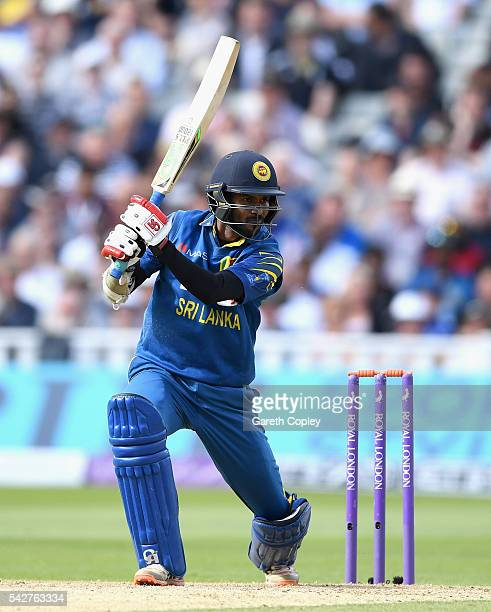 Upul Tharanga of Sri Lanka bats during the 2nd ODI Royal London OneDay match between England and Sri Lanka at Edgbaston on June 24 2016 in Birmingham...