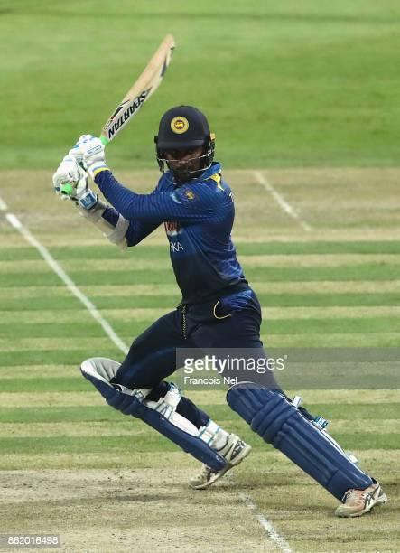 Upul Tharanga of Sri Lanka bats during the second One Day International match between Pakistan and Sri Lanka at Zayed Cricket Stadium on October 16...
