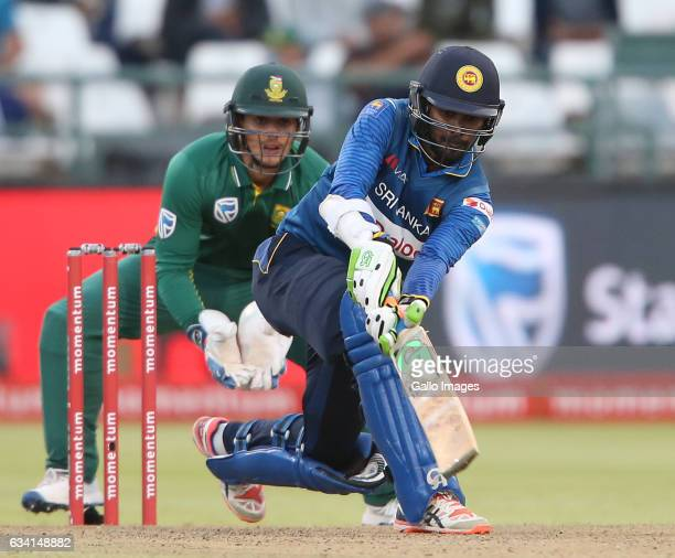 Upul Tharanga of Sri Lanka during the 4th ODI between South Africa and Sri Lanka at PPC Newlands on February 07 2017 in Cape Town South Africa
