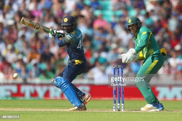 Upul Tharanga of Sri Lanka in action during the ICC Champions trophy cricket match between Sri Lanka and South Africa at The Oval in London on June 3...