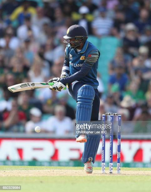 Upul Tharanga of Sri Lanka in action during the ICC Champions Trophy Group B match between Sri Lanka and South Africa at The Kia Oval on June 3 2017...