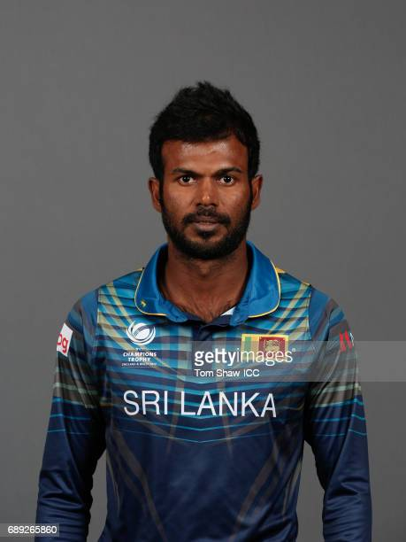 Upul Tharanga of Sri Lanka poses for a picture during the Sri Lanka Portrait Session for the ICC Champions Trophy at Grand Hyatt on May 27 2017 in...