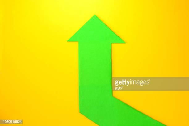 upward arrow sign - return on investment stock pictures, royalty-free photos & images