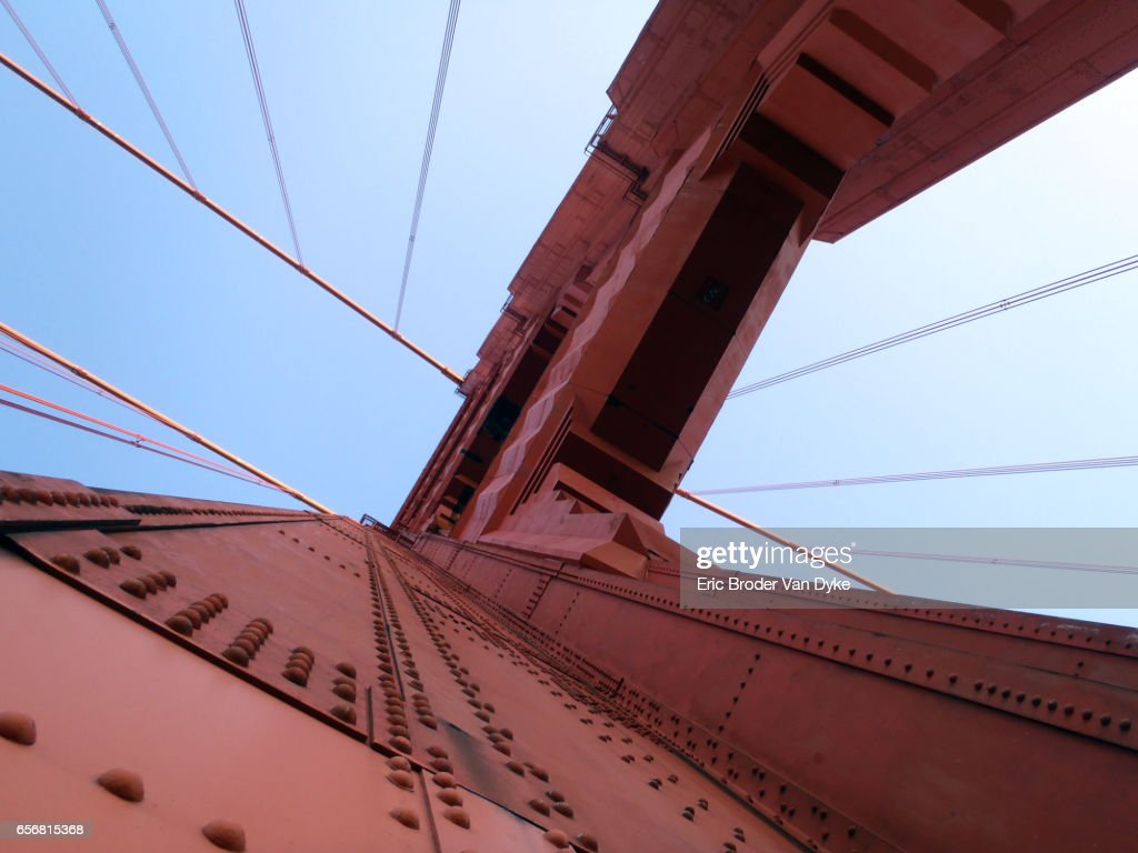 Upward Perspective Of Art Deco Tower And Supporting Cables ...