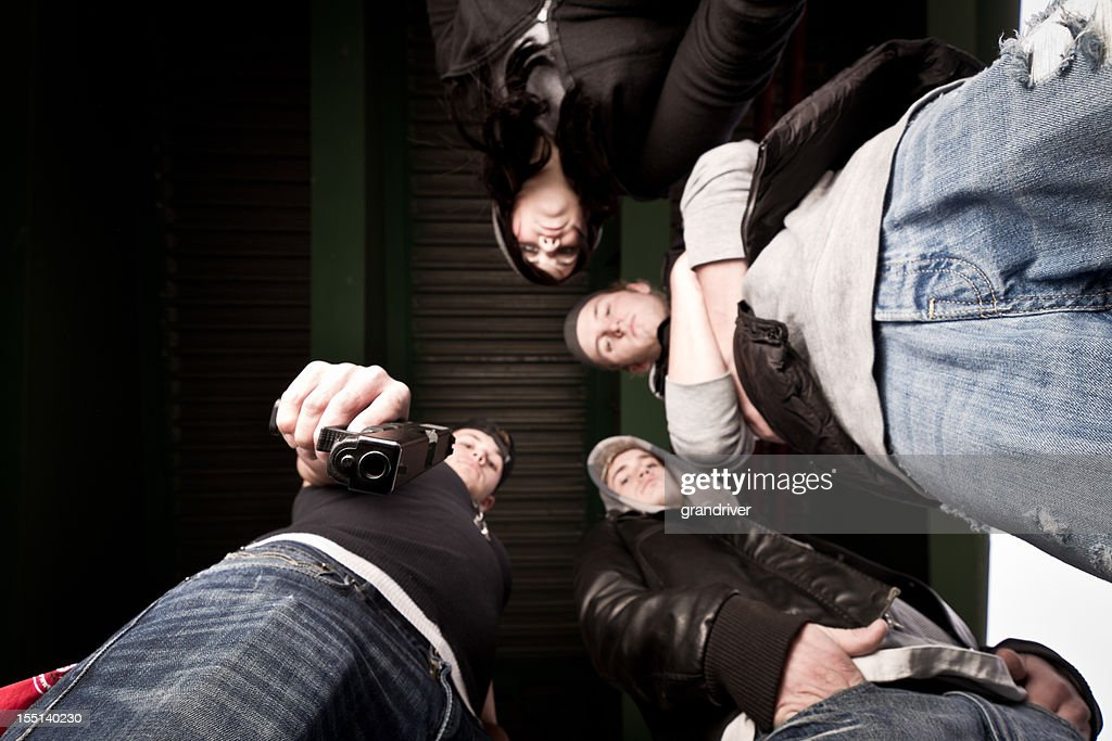 Upward View of Gang : Stock Photo