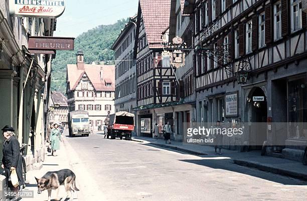 GER Urach ca 1958 innenstadt Bad Urach in der Schwäbischen Alb