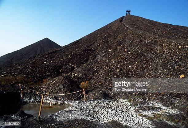 A uranium waste tip at Ronneburg mine Ronneburg East Germany 1st January 1991