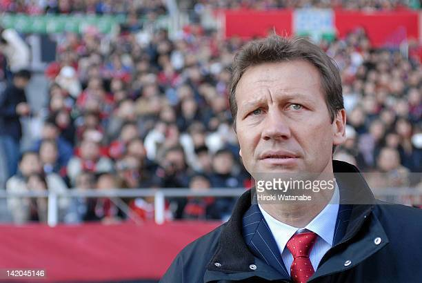 Urawa Red Diamonds head coach Guido Buchwald looks on during the 86th Emperor's Cup quarter final match between Urawa Red Diamonds and Jubilo Iwata...