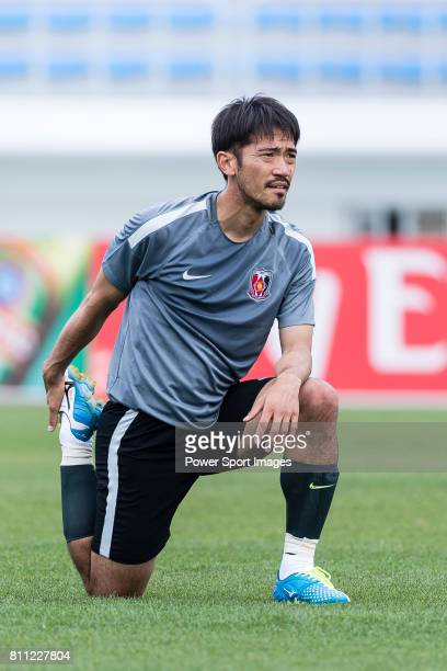 Urawa Reds Midfielder Abe Yuki during the training session prior to the AFC Champions League 2017 Round of 16 match between Jeju United FC and Urawa...