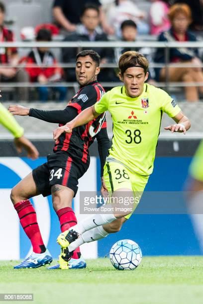 Urawa Reds Midfielder Kikuchi Daisuke in action during the AFC Champions League 2017 Group F match between FC Seoul vs Urawa Red Diamonds at the...