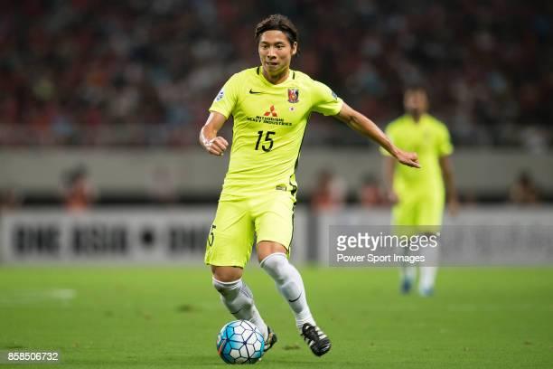 Urawa Reds Midfielder Nagasawa Kazuki in action during the AFC Champions League 2017 SemiFinals match between Shanghai SIPG FC and Urawa Red Diamonds...