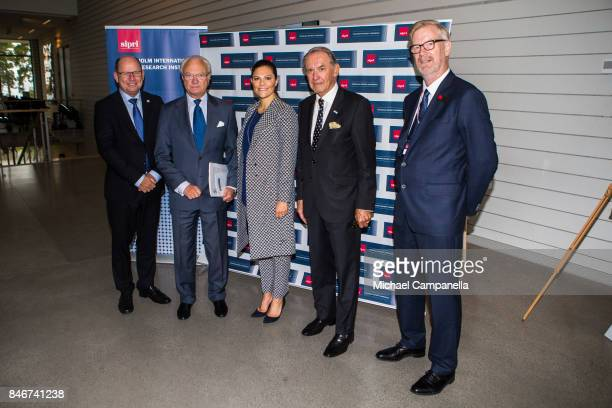 Urban Ahlin Carl XVI Gustaf of Sweden Princess Victoria of Sweden and Jan Eliasson attend the 2017 Stockholm Security Conference at Artipelag on...