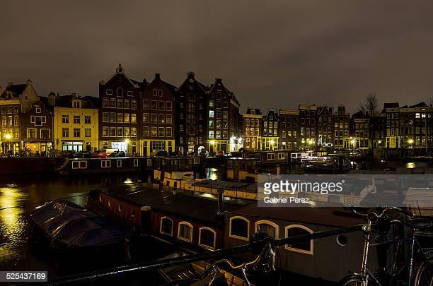 Urban Amsterdam at night
