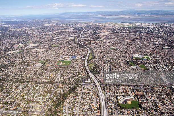 Urban and highway overview, Silicon Vallley, California